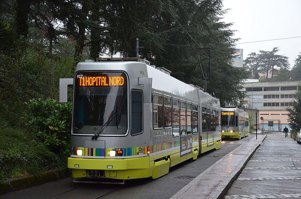 photo du tramway de l'agglomération stéphanoise