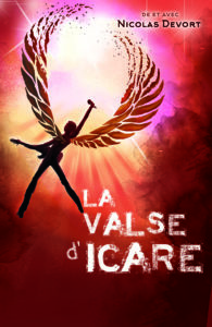 affiche de la pièce de théâtre intitulée la valse d'icare