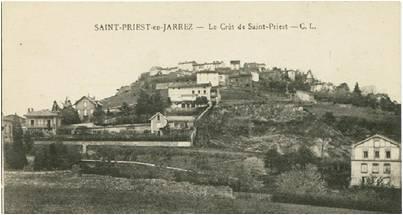 carte postale de Saint-Priest autrefois