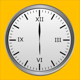 Illustration d'une horloge indiquant 18h