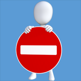 Illustration d'une interdiction d'entrer