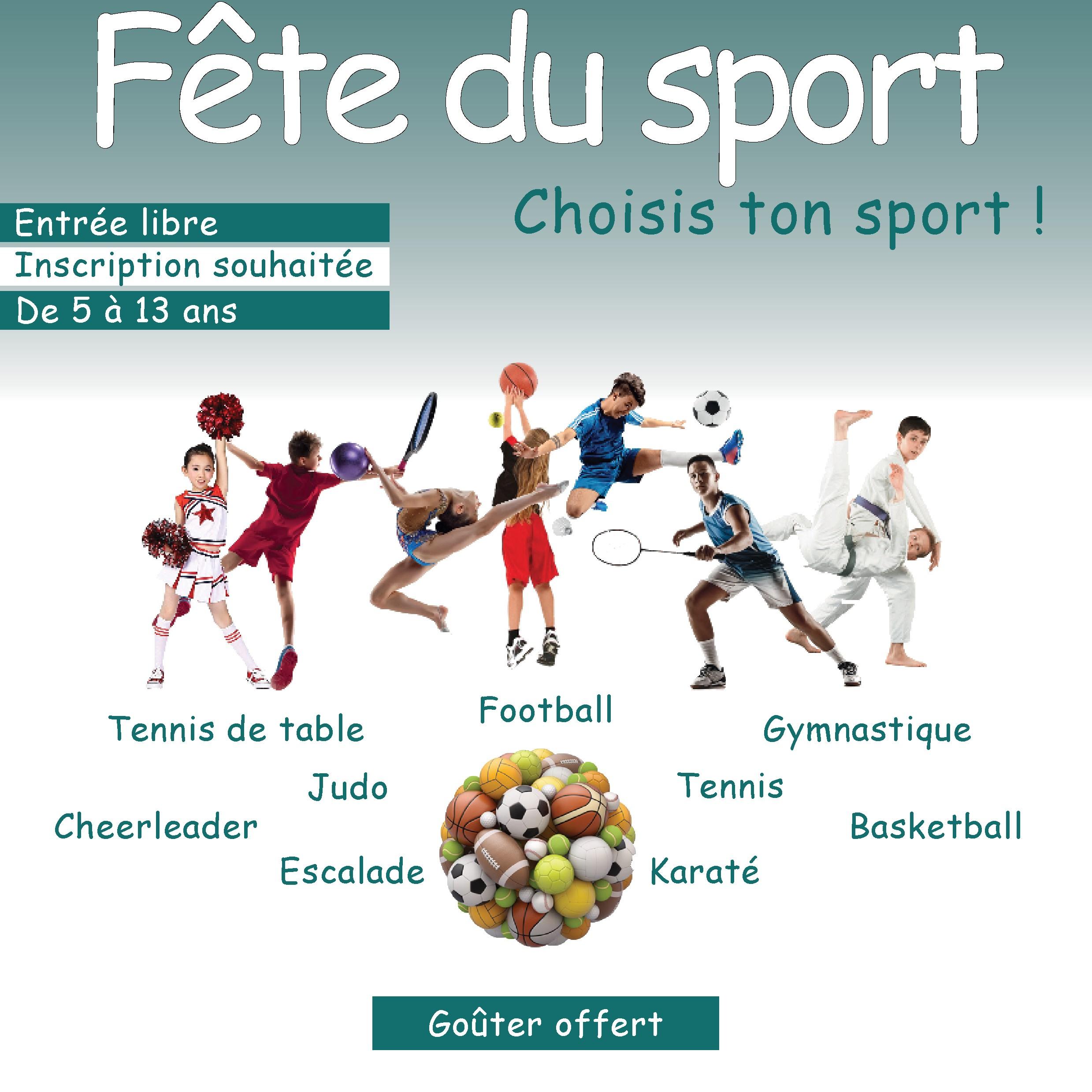 Affiche de la fête du sport