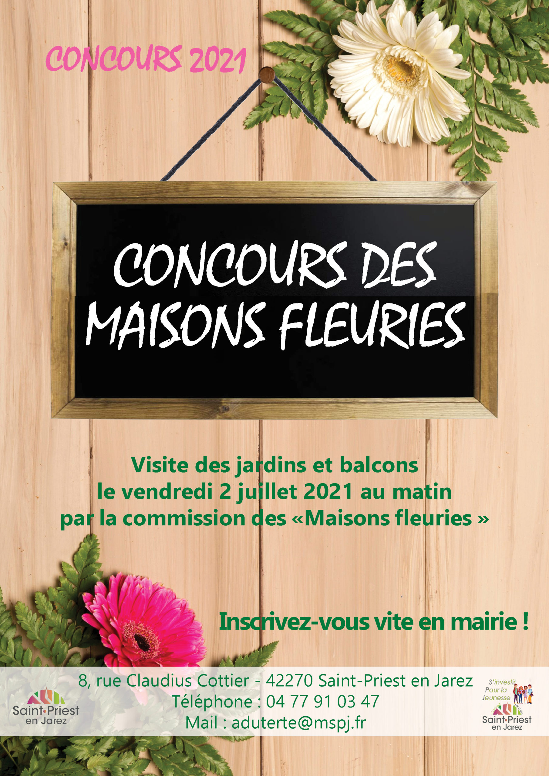 Affiche du concours des maisons fleuries