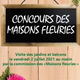 Affiche concours Maisons fleuries