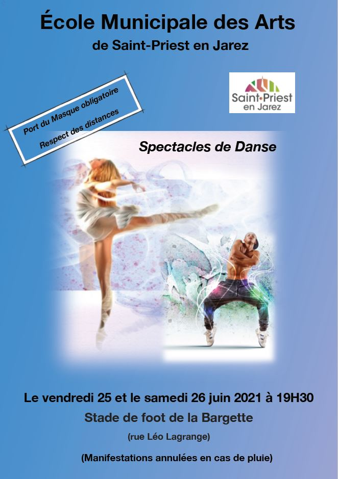 Affiche spectacles de danse des 25 et 26-juin