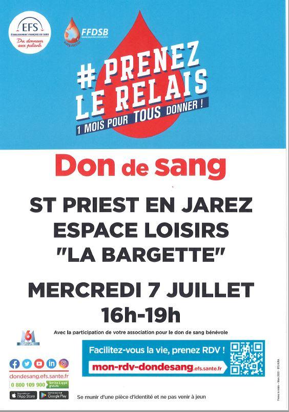 Affiche du Don du Sang