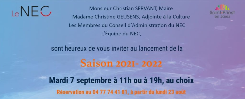 invitation lancement de la saison 2021-2022