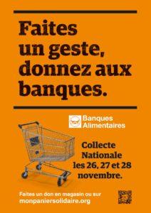 Affiche collecte banque alimentaire