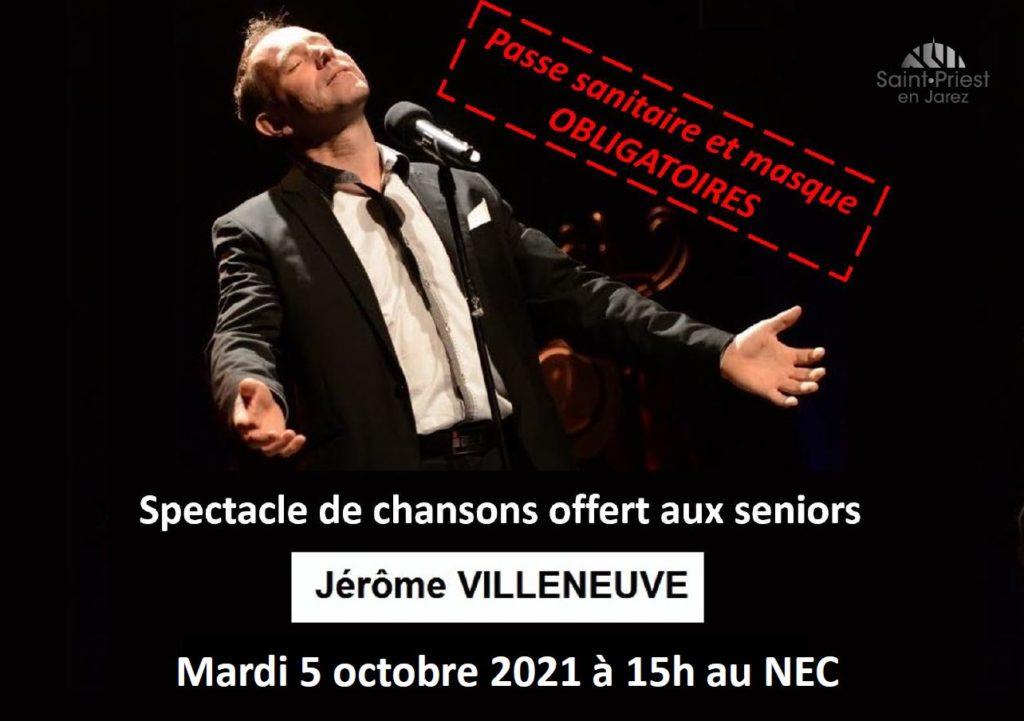 Affiche concert Jérôme Villeneuve